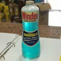 Windex (Drackett) Owens-Illinois Hour-Glass Bottle w/Contents FULL Retro USA Vtg