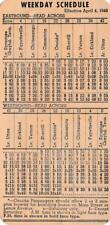Bus Schedule Timetable Card~Central N.Y. Coach Bus Lines Utica,New York~1949