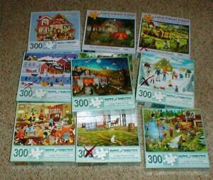 "Lot-10 Bit's and Pieces 300-pc Large Piece Jigsaw PUZZLES 18""x24"""