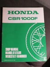 Honda Shop Manual Supplement Addendum nachtrag CBR1000F  1992