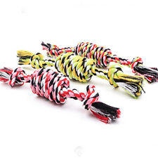 1PC Puppy Dog Pet Toy Cotton Braided Bone Rope Chew Knot New Random color 3C