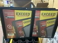 Binders Exceed 1 Inch Heavy Duty Binder Black D Ring Holds 275 Sheets 2 Pack