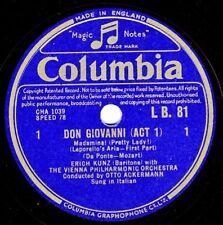 Erich Kunz: Registerarie des Leporello, Don Giovanni
