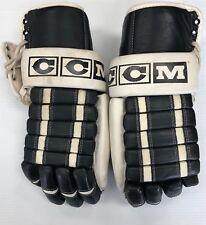 Vintage Cooper HG1500 Ice Hockey Gloves Senior sr glove Black/White