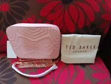 77da35b72ee29b New  195 Ted Baker Sunshine Quilted Leather Camera Crossbody Bag Light Pink