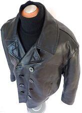 SCHOTT U.S 740N Leather Naval Pea Coat Vintage JACKET PERFECTO NAVY BIG XL Sz 50