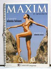 AS3 75 CALENDARIO MAXIM 2003 CON ALESSIA FABIANI