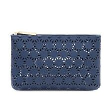 Fashion Blue Estee Lauder Cosmetic Hollow Flower Make Up Novelty Travel Bag