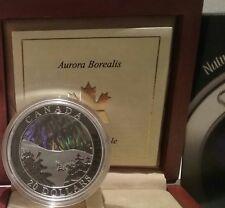 Aurora Borealis Northern Lights $20 2004 1OZ PureSilver ProofCoin Canada Wonders