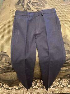 J.Crew Crewcuts Boy's Ludlow Slim Blue  Pants 8 Cotton /Linen