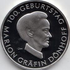 10 Euro Gedenkmünze Marion Gräfin Dönhoff 2009 Polierte Platte Silber 925/-
