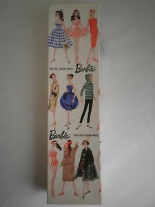 Vtg Barbie Ponytail 850 Gay Parisienne Original Box Mattel (No Doll - Box Only)