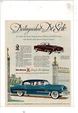 1953 DESOTO 2-DOOR CONVERTIBLE/4-DOOR SEDAN FIRE DOME V-8 ENGINE AD PRINT E833