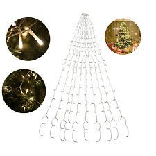 LED Lichterkette Christbaum Dekobeleuchtung Fenster Aussen 280 LEDs Warmweiß