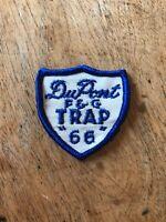 "Vtg DuPont F&G 1966 Trap Shooting Sew On Patch 2"" Rifle Gun Firearm Hunting"