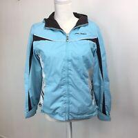 ZeroXposur Womens Jacket Sz Large Blue Brown Reversible Spring Fleece Ice Chip