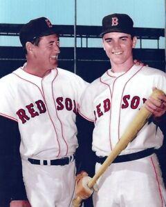 TED WILLIAMS & TONY CONIGLIARO 8X10 PHOTO BOSTON RED SOX BASEBALL PICTURE MLB