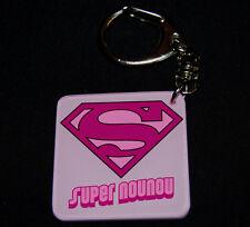 Porte-clés SUPER NOUNOU (modele 2) - cadeau nounou