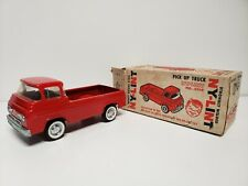Vintage NYLINT Metal Red Ford Econoline Pick Up Truck No. 5200 with Box
