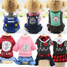 Cute Small Dog Pet Cat Coat Costume Summer Cotton Clothes Puppy Striped Jumpsuit