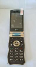 Unlocked LG Smart Wine H410 Flip Button Touch Mobile Phone 4GB Brown UK Delivery