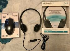 NEW Logitech Computer Noise Canceling Microphone Headphones USB Headset h340++