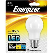 Energizer GLS BC B22 Cap LED Energy Saving Light Bulb 9.2w 60w Warm White
