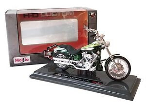 2004 HARLEY FXSTDSE2 CVO in Green - 1:18 Die-Cast Motorbike Model - Maisto - New