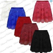 Polyester High Waist Short/Mini Skirts for Women