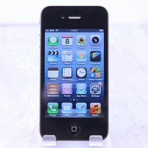 "Apple iPhone 4 3.5"" 8GB Black iOS 6"