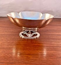 RARE RANDAHL ARTS & CRAFTS HAND WROUGHT STERLING SILVER FOOTED BOWL - NO MONO