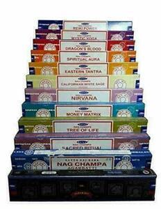 Satya Nag Champa Incense Sticks 12 Different Random Fragrance-Free Wooden Holder