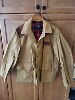 Vintage 1960's Blue Bill by Red Head Brand Canvas Hunting Jacket pockets shells
