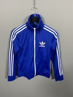 ADIDAS TREFOIL Track Top - UK10 - Blue - Great Condition - Women's