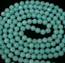 48inch Chinese Tibet Baby Blue Jade Gemstone Beads Long Necklace Gift