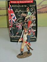 KING AND COUNTRY Napoleonic NA57 FRENCH Grenadier OFFICER OLD GUARD MARCHING