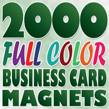 2000 Full Color Custom BUSINESS CARD MAGNETS Printing on 17pt Stock Gloss Finish