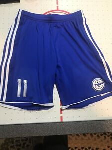 Adidas Climacool Blue Soccer Athletic Shorts With White Stripe Youth Size S