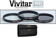 UV POLARIZER FLUORESCENT SET 3PC HD FILTER KIT FOR CANON VIXIA HF R20 R21 R200
