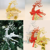 Glitter Deer Reindeer Hanging Decorations Christmas Tree Baubles Party Ornament