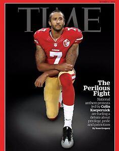 Colin Kaepernick Kneeling Protest Time Magazine Cover photo  - select size