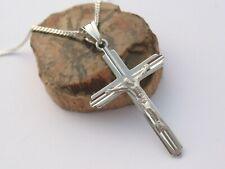 Echt Silber 925 Kreuz Jesus Anhänger 50 cm Kette Herrenschmuck Korpus Christus