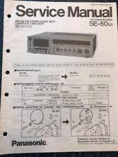 Original Panasonic Technics Model SE-60 Stereo Receiver Service Manual