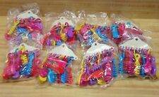 Lot of 96 Miniature Plastic Toy Hair Brushes Clip On Key Chains for Girls, Dolls