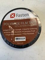 "Fasten Polyimide Film Tape 1/2"" x 36yds (Pack Of 2) NEW"