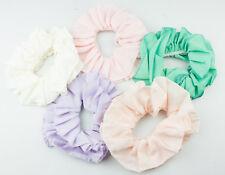 Plain Satin Scrunchies Large  Ruched Scrunchie Bobble Ponytail Hair Ties Pastel