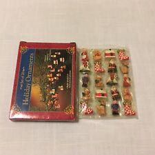 Giftco Set of 20 Mini Christmas Ornaments ~ Polystone ~ Santa Bears Stocking etc