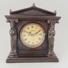 Roman stile MANTEL BRONZATO Orologio - 2 Donna in colonna da Juliana