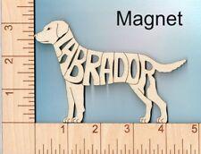 Labrador Retriever Dog laser cut and engraved wood Magnet