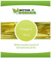 High Strength Omega 3 Fish Oil Capsules Better Bodies Made In UK High Quality
